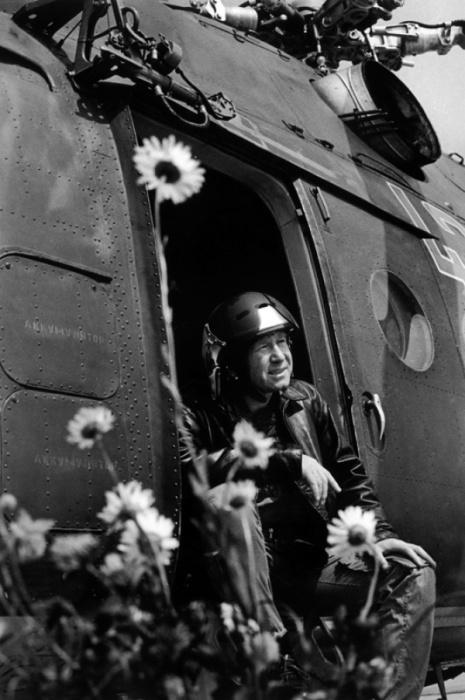 Лицо человека, влюбленного в мир, 1973 год. Фотограф Альберт Пушкарев.