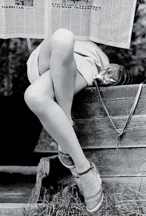 Красивые ножки, 1970 год. Фотограф Борис Кауфман.