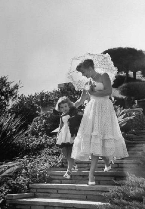 Жа Жа Габор и ее дочь Франческа, 1951 год.
