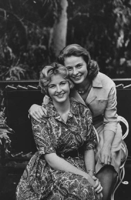 Ингрид Бергман и ее дочь Пиа Линдстром,в 1959 году.