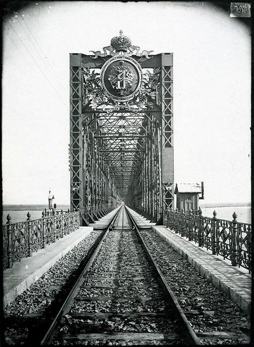 Мост через Волгу в Сызрани, 1894 год.