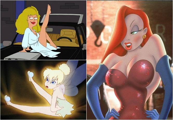 сексуальные мультиплекационные персонажи