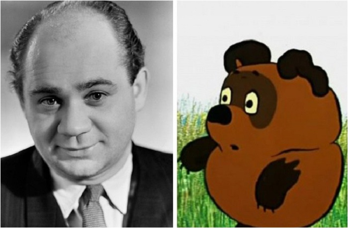 Сходство любимых мультипликационных героев с актёрами.