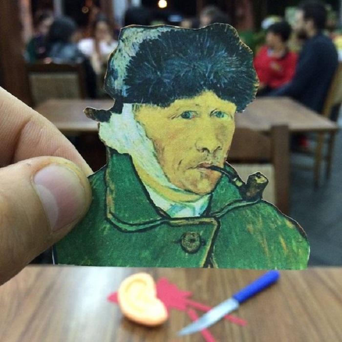 Ван Гог с отрезанным ухом.