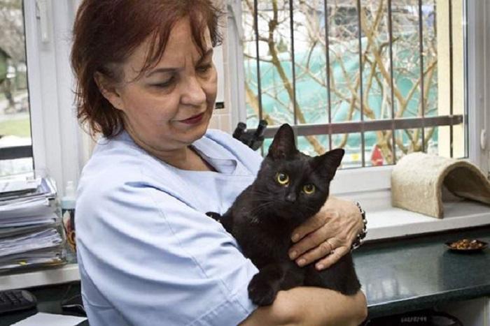 Сотрудница приюта, ветеринар Люцина Кузель-Завалих.
