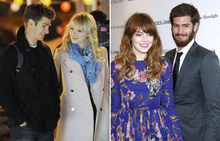 Эндрю и Эмма познакомились во время съемок фильма «Новый Человек-паук» 2012 года.