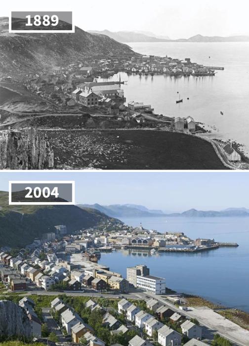 Самый северный город Европы за 115 лет обзавелся новыми аккуратными домиками, значительно расширив свои границы.