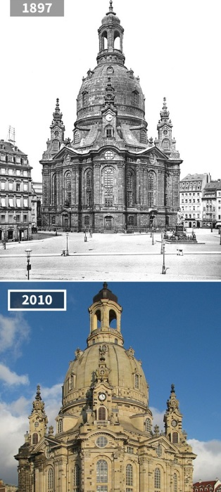 Величественный храм был полностью разрушен во время Второй мировой войны, но к 2005 году был восстановлен заинтересованными гражданами.
