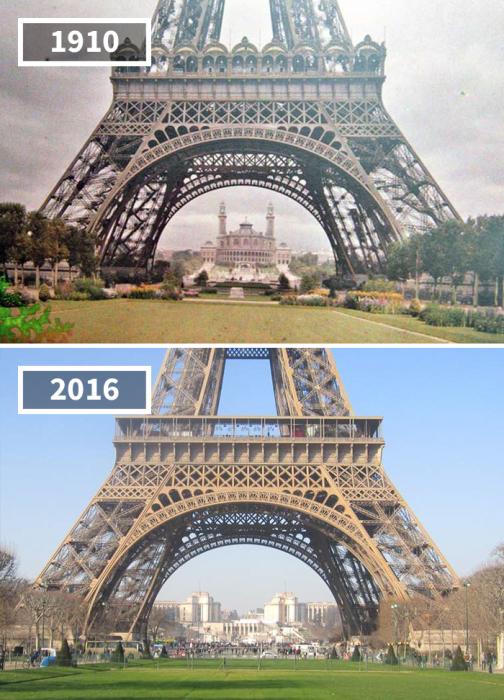 Конечно, спустя 106 лет территория вокруг башни, как и она сама, претерпела некоторые изменения, утратив немалую долю романтической атмосферы.