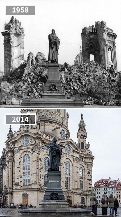 На месте руин теперь возвышается собор Пресвятой Девы Марии, а сам памятник, возведенный в честь основателя протестантизма, остался неизменным.