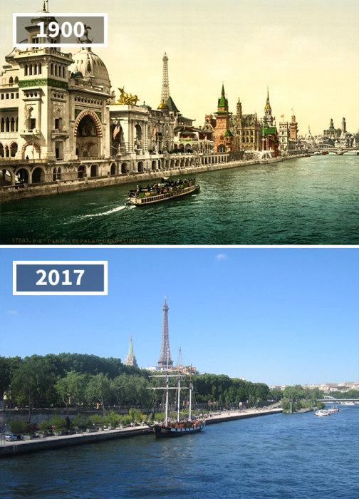 «Набережная наций» - один из немногих примеров, когда здания уступили место пышным зеленым насаждениям.