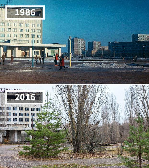 Зима 1986 года оказалась последней, когда в городе наблюдалась привычная людская суета, теперь это просто призрак прошлого, скрытый разросшимися деревьями.