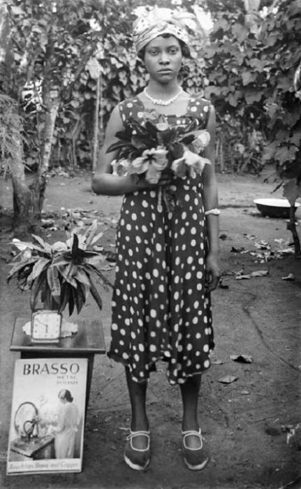 Оритсетимейин Эхэнайр урождённая Кардиган. 1940 год, Бенин-Сити.
