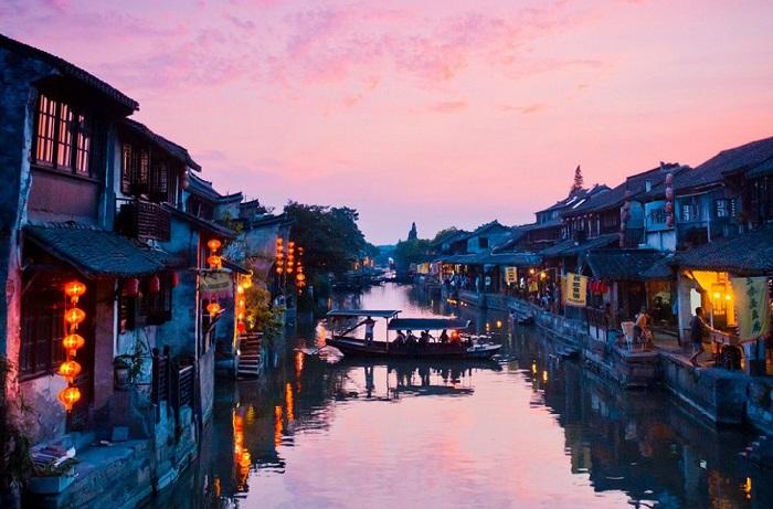 Ситан - волшебный водный город на юге Китая. Маленькая китайская Венеция. Удивительно красивое и романтичное место.