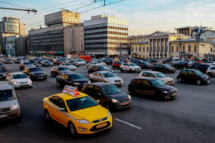 Современный вид Москвы.