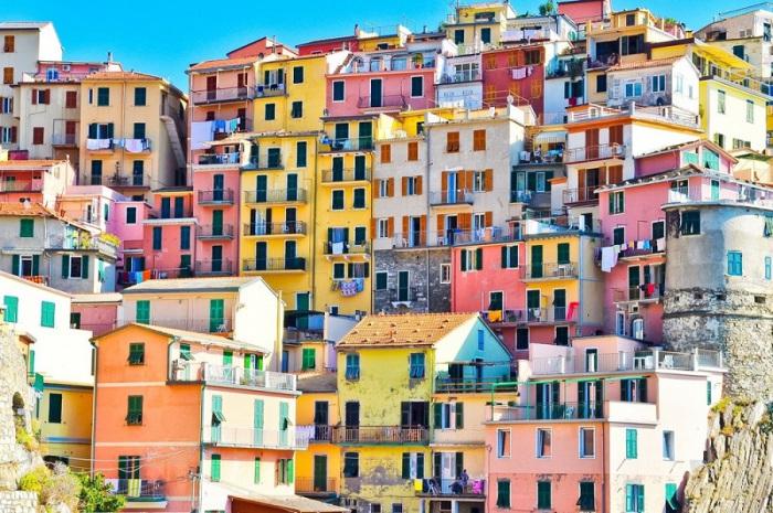 Знаменитые итальянские городки на побережье Генуэзского залива.