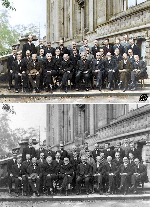 Участники 5-й Сольвеевской конференции по квантовой механике. 1927 год.