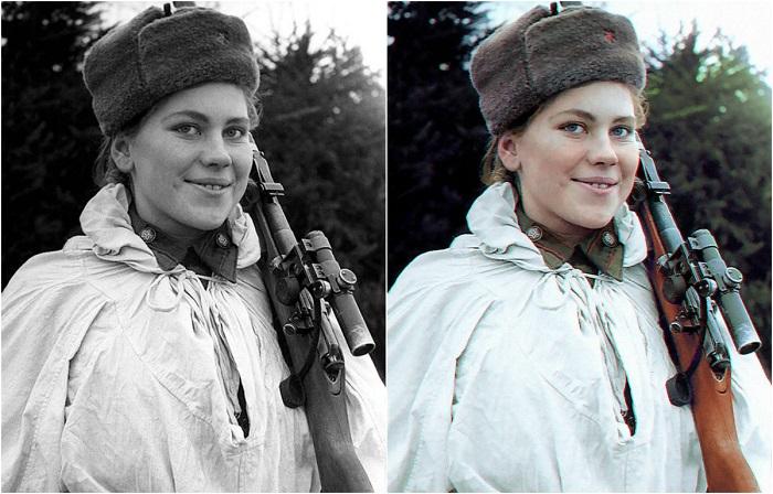 Роза Шанина - первая женщина-снайпер, которая получила Орден Славы II и III степени.