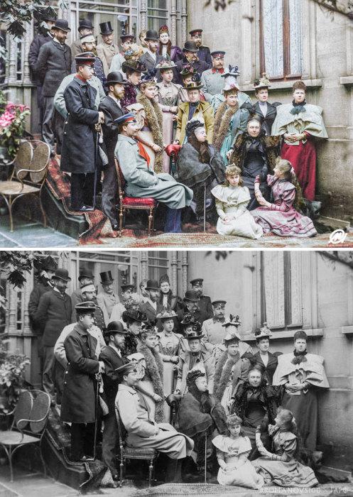 Королева Виктория на свадьбе в Кобурге. 1894 год.