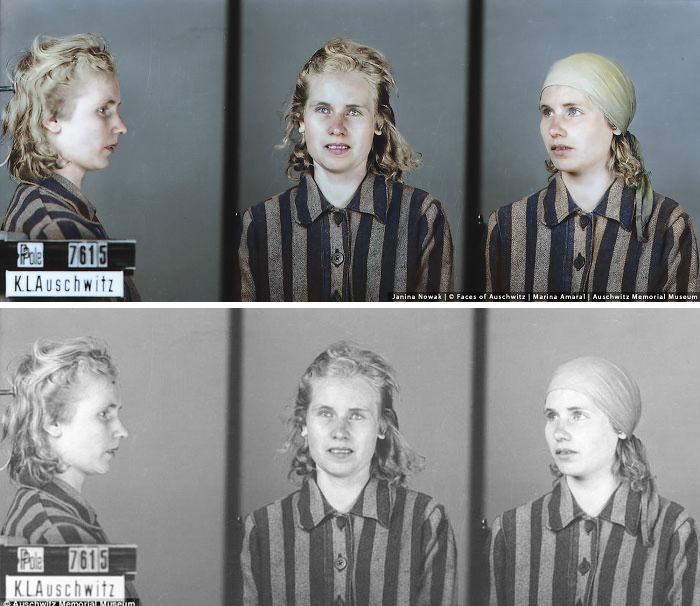 Заключенная лагеря в Освенциме.