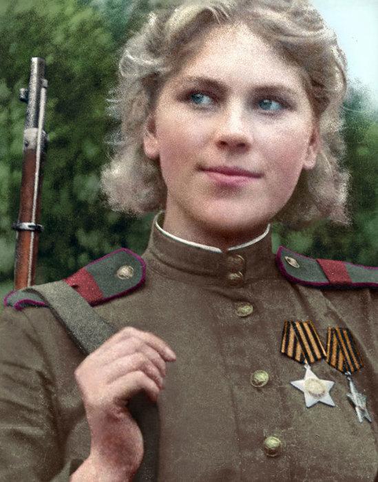 Первая женщина, которая стала кавалером Ордена Славы.