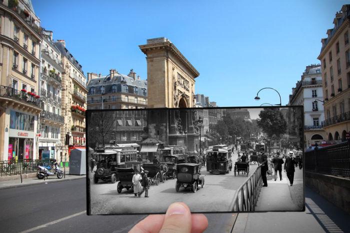 Пересекающая бульвар улица Сен-Дени - одна из самых старых торговых улиц Парижа.