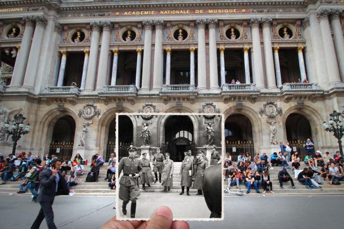 Гитлер в Париже, 23 июня 1940 года.