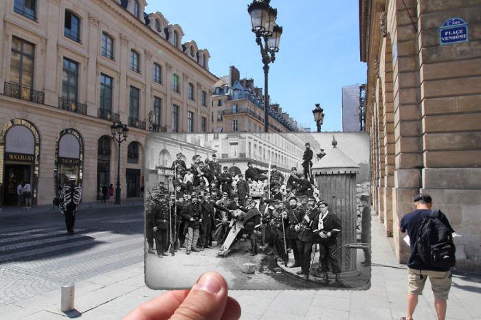 Федералисты у баррикад на Рю де Кастильоне.