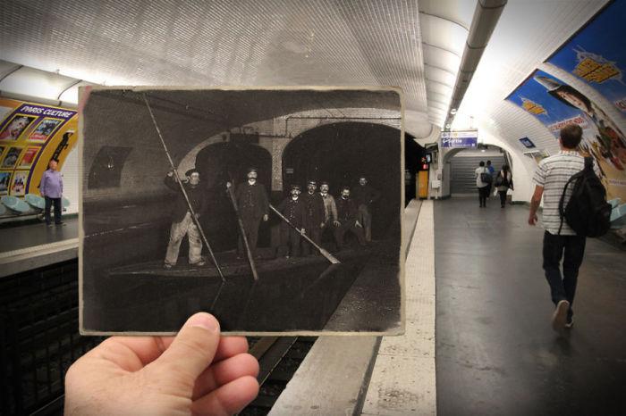 В январе 1910 года, в результате разлива Сены, Париж на несколько недель превратился в Венецию и под водой оказались площади, улицы, вокзалы и станции метрополитена.