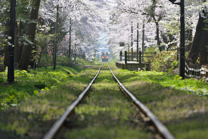 Железная дорога в Аомори, Япония. Фотограф Шо Сибата (Sho Shibata).