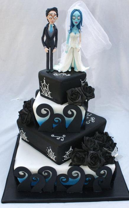 Неординарный свадебный торт.