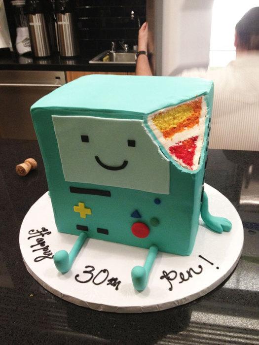 Торт в виде игровой видео системы.
