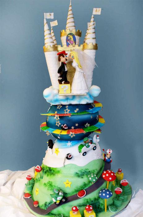 Свадебный торт «Супер Марио».