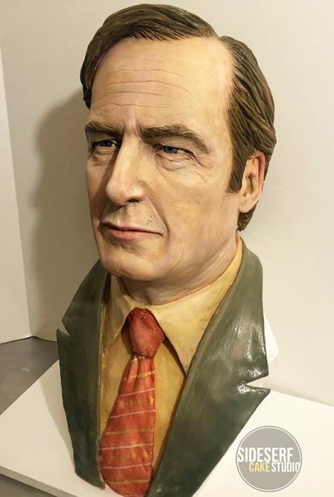 Торт «Saul Goodman» от скульпторов-кондитеров «Sideserf Cake Studio».