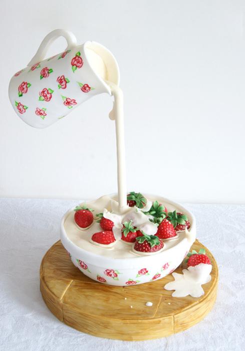 Торт, форма которого «нарушает» законы гравитации.