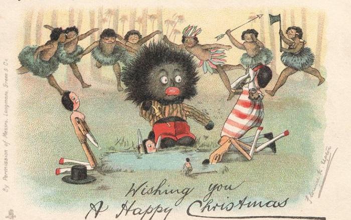 Рождественское ретро на открытках Викторианской эпохи.