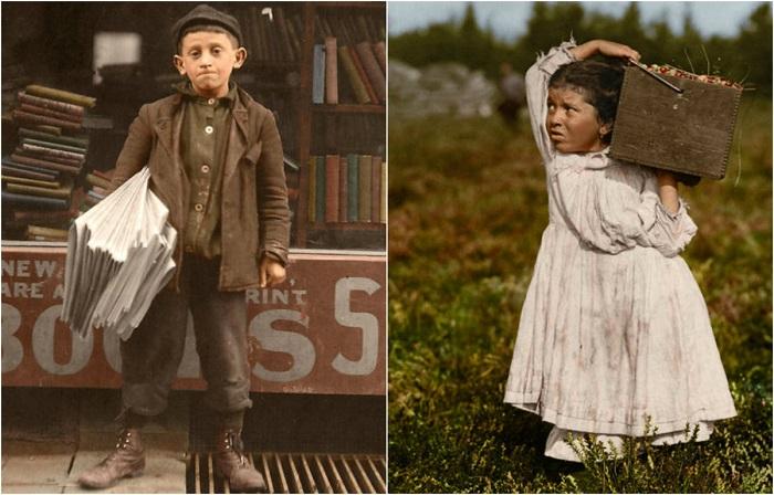 Фотографии, посвященные детскому труду в США.