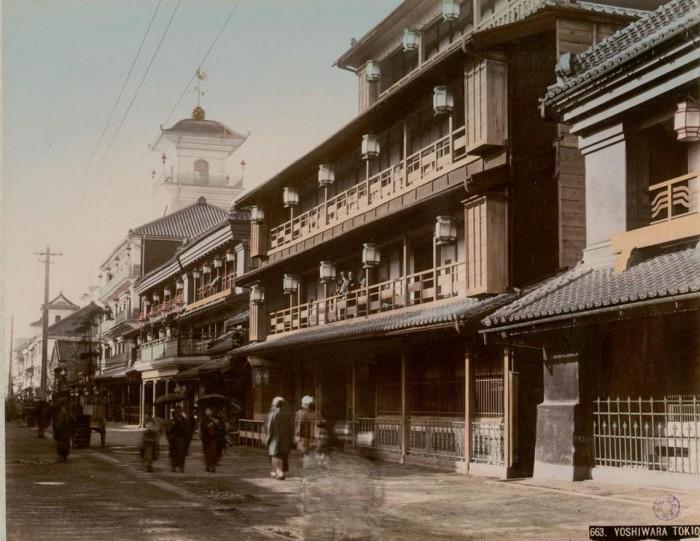 Токийский «район красных фонарей» эпохи Эдо.