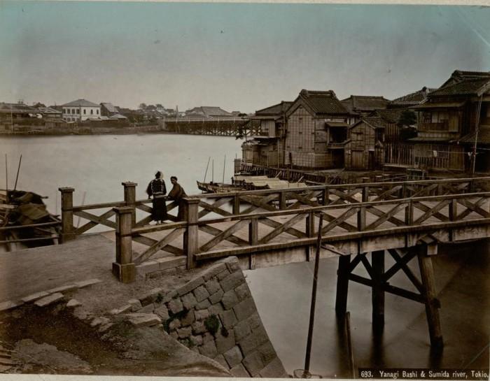Сумида отделяется от реки Аракава у города Ивабути, протекает через Токио и впадает в Токийский залив.