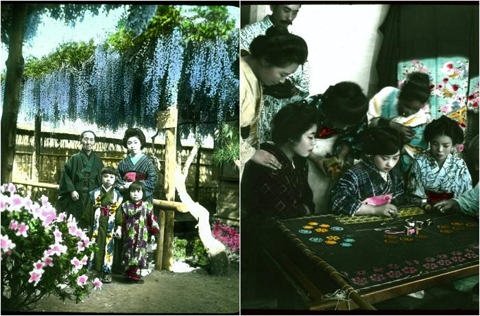 Цветные ретро-фотографии Японии.