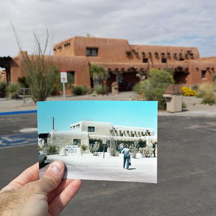 Природный памятник в штате Нью-Мексико. Апрель 1979 и октябрь 2014 года.