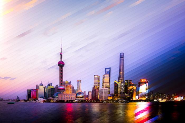 Шанхай: коллаж из 64 фотографий, снятых каждый 1 час 20 минут.