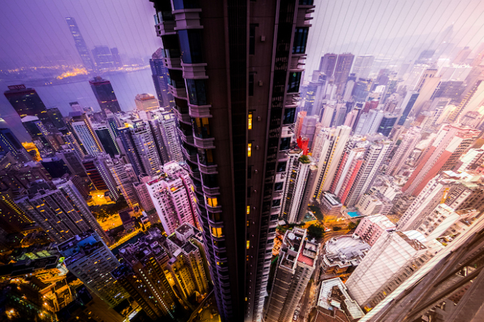 Гонконг: коллаж из 150 фотографий, снятых каждые 56 минут.