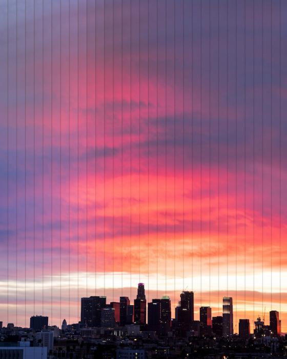 Лос-Анджелес: коллаж из 35 фотографий, снятых каждые 20 мин.