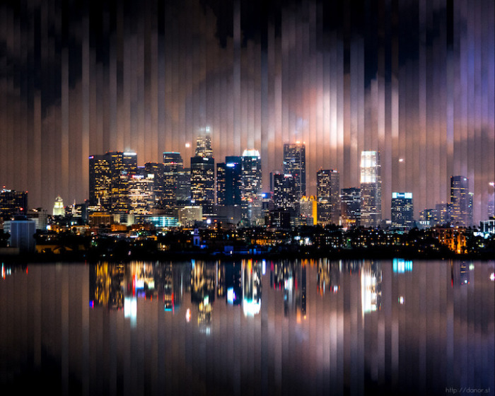 Лос-Анджелес: коллаж из 72 фотографий, снятых каждый 1 час 58 минут.