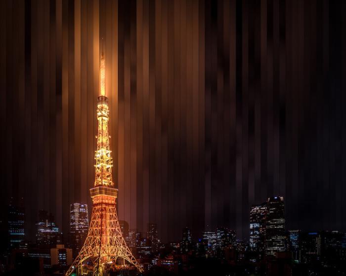 Токио: коллаж из 56 фотографий, снятых каждые 4 часа 59 минут.