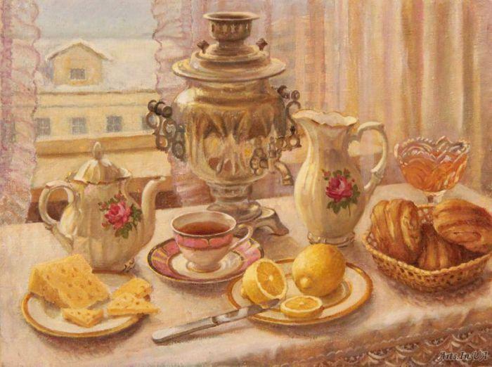 Чашечка ароматного напитка стала традицией, когда семья собирается за большим столом. | Фото: iren_53.arts.in.ua.