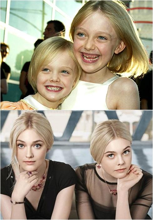 Голливудские звезды сестры Фаннинг с малых лет снимаются в кино и несмотря на свой юный возраст у них более 40 ролей.
