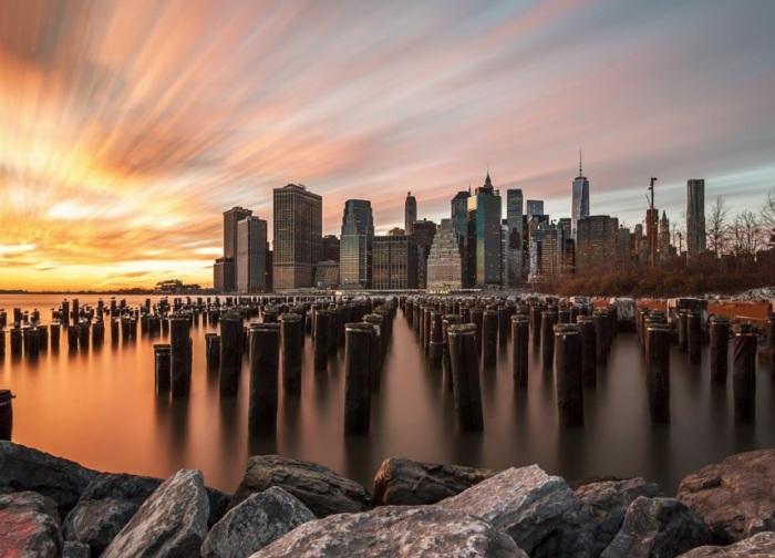 Первый день нового 2015 года в Нью-Йорке. Фотограф - Энтони Филдс.