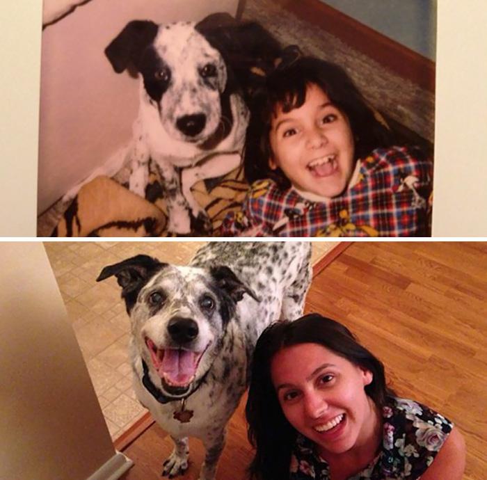 Дружба между девочкой и ее собакой длится с 1997 года.